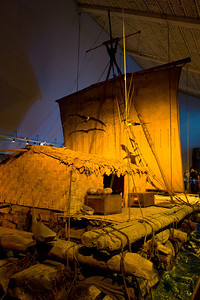 Thor Heyerdahl's Kon-Tiki in the Kon-Tiki Museum in Oslo.