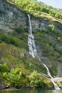 One of many waterfalls on the Aurlandsfjord.