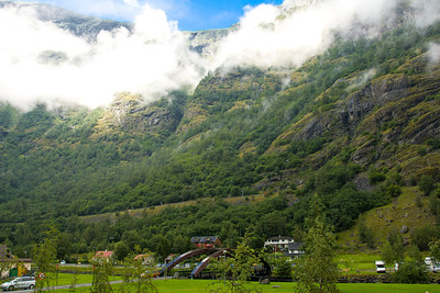 Part of the village of Flam, on the Aurlandsfjord, one of the branches of the Sognefjord