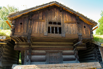 A rural farm building in the Open Air Museum in Oslo.
