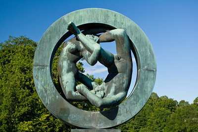 A bronze sculpture in the Vigeland Sculpture Park in Oslo.