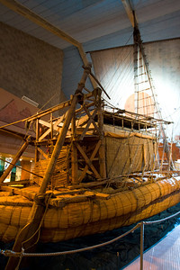 Thor Heyerdahl's RA II in the Kon-Tiki Museum in Oslo