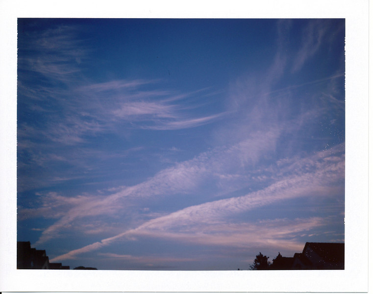 After taking a bunch of fall color shots I was ready to go back home.  Took this last Colorpack II shot on the way back to the FJ.  Lovely wispy clouds!  There was a really nice sunset as well, but I took a picture of that with the OneStep CloseUp camera I had with me (it had two frames of 600/779 film left).