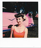 Elizabeth Posing With Cadillac