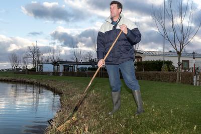 """Jan Warmerdam eigenaar van camping """"de Wasbeek"""" Warmond in het kader van interviews Hemmeerpolder."""
