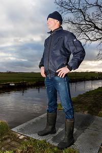 Veehouder Fer Vergeer. Wasbeeklaan 23 te Warmond in het kader van interviews Hemmeerpolder.