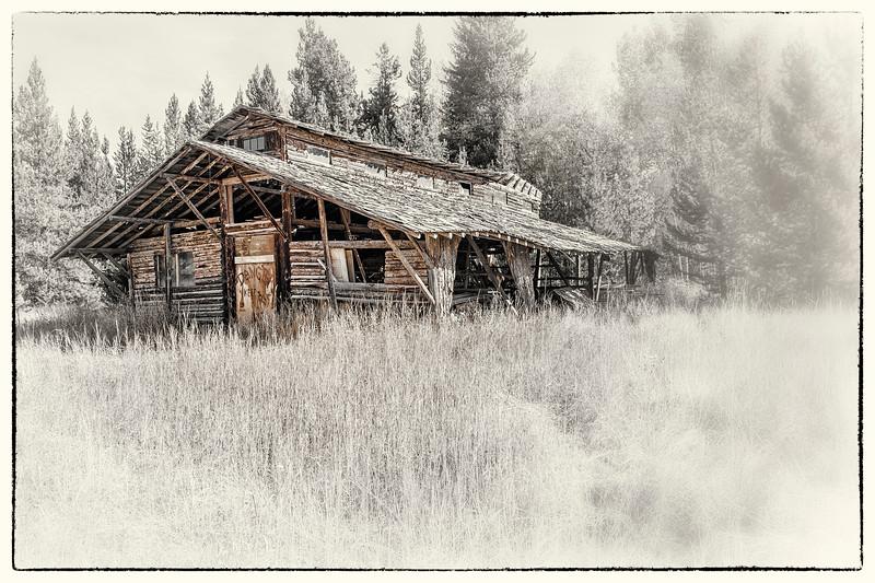 Log Cabin/Barn  -  Polebridge, Flathead Co., MT