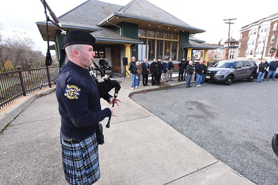 "Washington Township Police Officer, Zachary Grawehr, played Amazing Grace on the bagpipes. The Phillipsburg Police Department held a remembrance ceremony honoring fallen officer, Kenneth W. ""Red"" Vandegrift who died in the line of duty Nov. 20, 1930. The ceremony was at the bridge on South Main Street that bears his name."