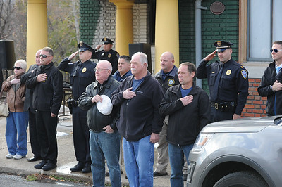 "Phillipsburg Police Department retired and active duty officers gathered for the ceremony. The Phillipsburg Police Department held a remembrance ceremony honoring fallen officer, Kenneth W. ""Red"" Vandegrift who died in the line of duty Nov. 20, 1930. The ceremony was at the bridge on South Main Street that bears his name."