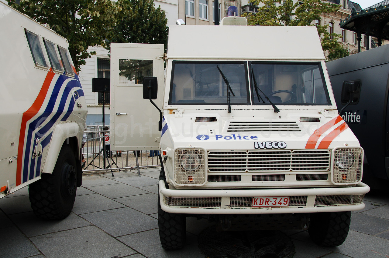 An older IVECO personnel carrier (replaced by Mercedes Sprinter vehicles, among others).