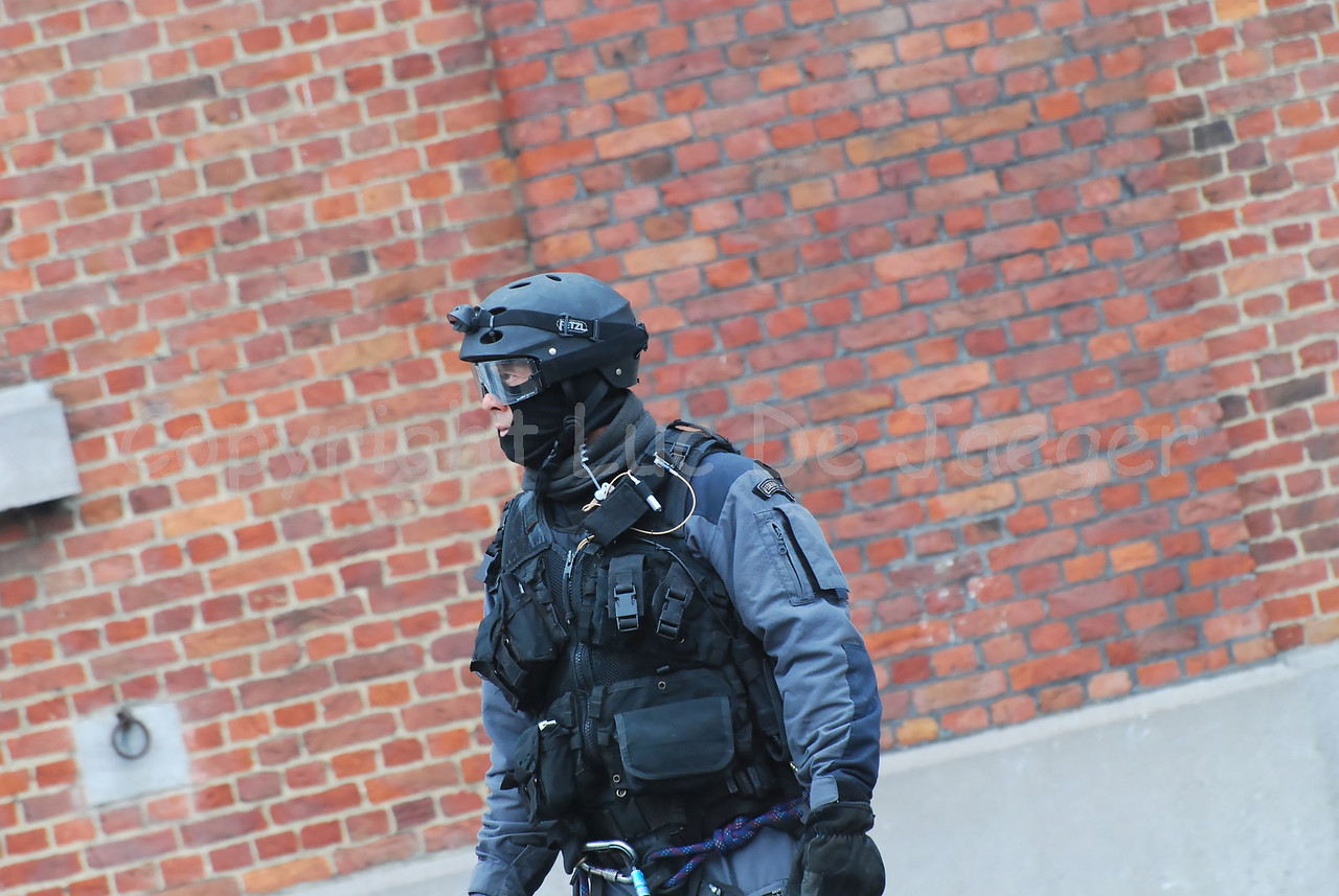 The gear used by the Special Intervention Squadron (SIE) of the Belgian federal police.