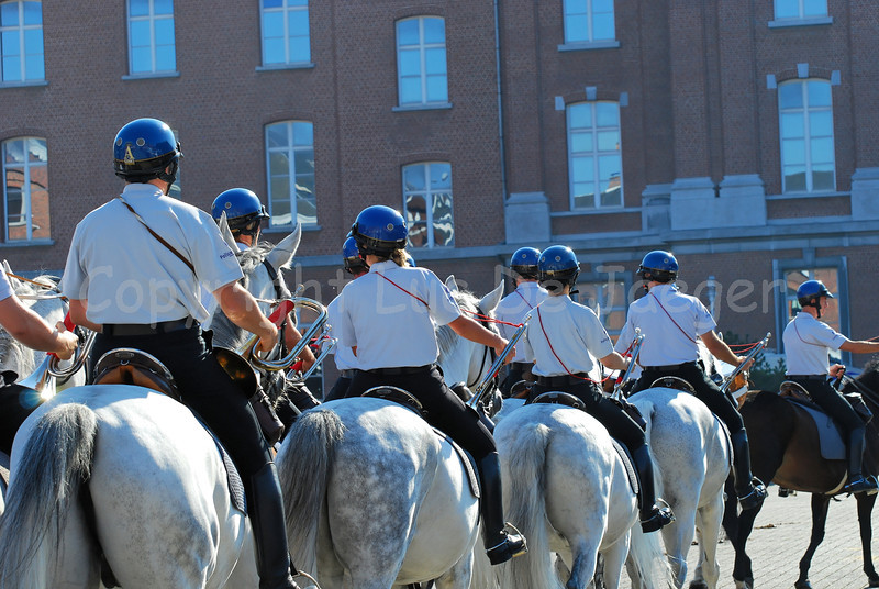 Trumpeters of the federal mounted police.