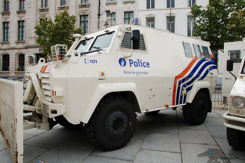 The Shorland 600 APC in use by the Belgian federal police.