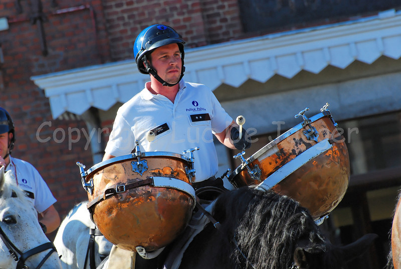 A kettledrum of the federal mounted police.