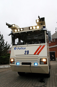 Front view of the brand new Ziegler Wawe 9 water cannon mounted on a MAN TGA chassis. The Ziegler water cannons replace the MOL MSB18 6x6 vehicles.
