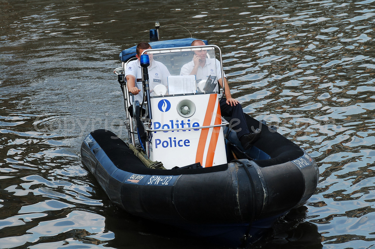 The Rigid Inflatable Boat (RIB) used by the Belgian Federal Police.