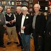 "Tom Kavanagh, Bob Waller, John McQuaker, author Dan Bjarnason, David Nayman, David Burt at the launch of Dan's book ""Triumph at Kapyong -- Canada's Pivotal Battle in Korea"" at Ben McNally's book store in Toronto."