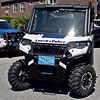 Shown here is a view of the new ATV off-road type Police vehicle parked near the SUV type police vehicle's at the Lowell Police station. SUN/David H. Brow