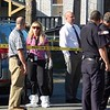 Police investigate a death inside a home on Queen Street on Monday afternoon. AARON CURTIS/LOWELL SUN