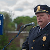 Fitchburg Chief of Police Ernest Martineau gives his remarks during the 2016 Police Memorial Services and rededication of Police Memorial Park SENTINEL & ENTERPRISE / Jim Marabello