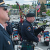 A member of the Worcester Police Pipes and Drums plays Amazing Grace during the Police Memorial Services and Park Rededication. SENTINEL & ENTERPRISE / Jim Marabello