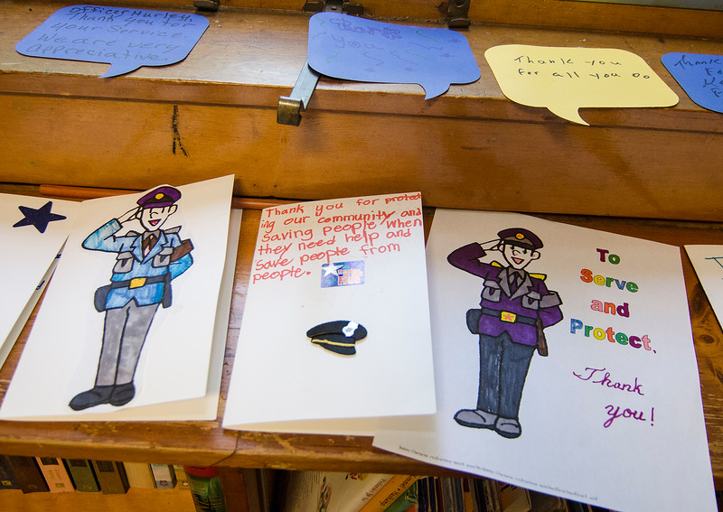 children at escc create thank you cards for fpd mng sen