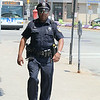 Leominmster Police Officer Randy Thomas has a new walking beat downtown. SENTINEL & ENTERPRISE/JOHN LOVE