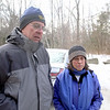 Hikers Tom & Diana Kamila of Ashburnham talk about their roll in helping to try and save a 72 year old mans life on Mount Watatic today in Ashburnham. SENTINEL & ENTERPRISE/JOHN LOVE