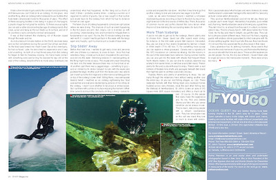DIVER magazine November 2009 issue, page 7 & 8 of 8