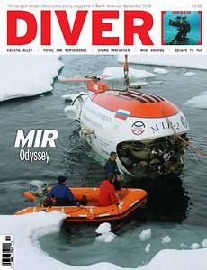 DIVER magazine November 2009 issue cover
