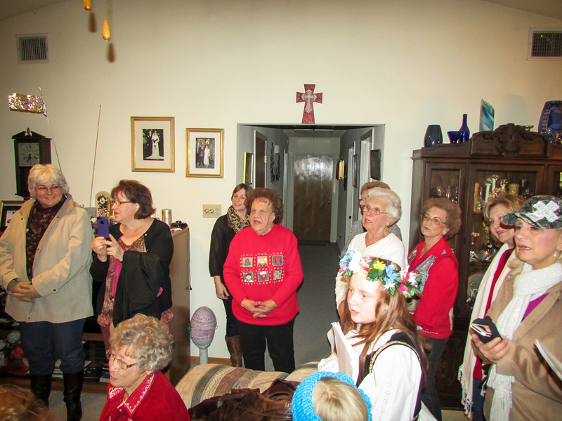 Singing at Tillie Kubiak's home