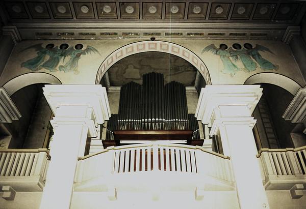DEBICA - Rear balcony and organ in the Catholic Church.