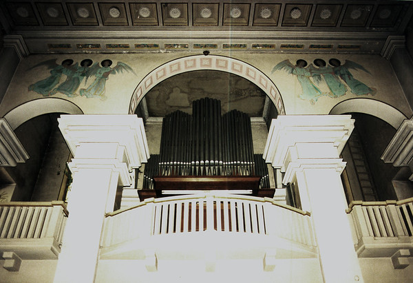 DEBICA - Rear balcony and organ in the Catholic Church.
