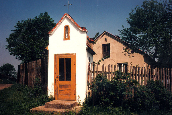 GAWRZYLOWA - A small locked shrine near the top of the hill on the western hillside of the village. Inside is a tiny little altar with a statue of the Virgin Mary.