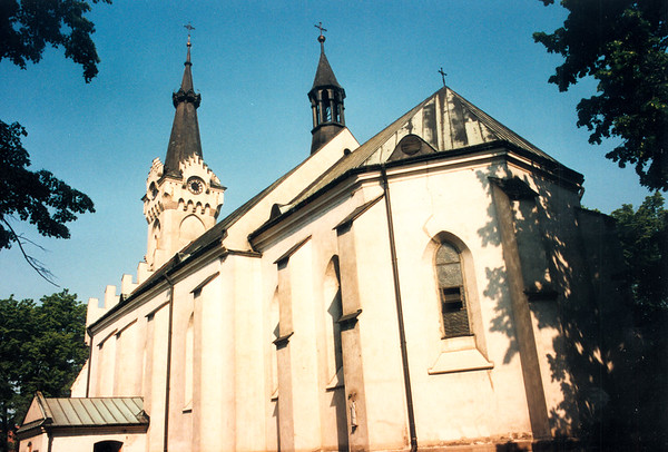 DEBICA - A wide view of the Catholic Church seen from the southeast side.