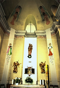 DEBICA - Front altar area of the Catholic Church.