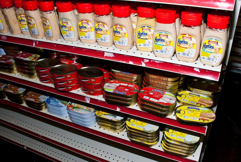 Plenty of canned goods