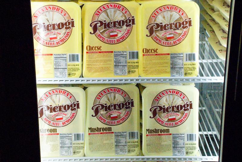A large variety of good frozen pierogi