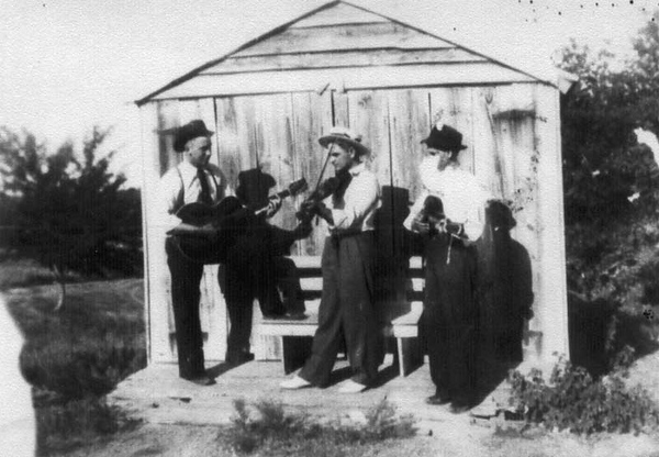 From left to right; Adam Edward Polka  ,  Albert Polka  , unknown musician on bass Photo taken circa 1920 Photo courtesy of James Smock