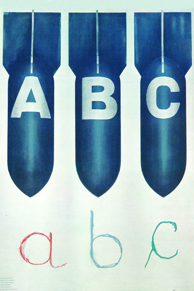 ABC (1971)<br /> <br /> Published by Polish Peace 1948 Committee. 1972 annual award in the contest for Warsaw's best poster. First prize in Polish Peace Committee contest for poster on universal and total disarmament, 1972. Gold Medal at 5th Polish Poster Biennale in Katowice 1973 Honorary mention at 5th International Poster Biennale in Warsaw, 1974.<br /> <br /> Urbaniec, Maciej, 1925-2004