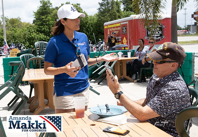 Amanda Makki greeted Bikers at The Quaker Steak & Lube July 4, 2020, before they took off on the Independence Day Freedom Rally  in Pinellas county.   This event will be to support 5 bar/restaurants that do so much in our community, for many charitable organizations, causes and fundraisers. This is a day to welcome their re-opening, show our support with a 5 stop motorcycle ride.    Amanda is currently running for in the Republican primary for Congressional District 13 in Pinellas County.   Makki served as senior advisor in both the U.S. Senate and the U.S. House of Representatives, and before the age of 40, became one of the youngest partners at K&L Gates, one of the nation's premier law firms. While Makki's work at K&L Gates  Read Amanda's Full Bio: https://www.amandamakki.com/meet-amanda   Photos by: Event & Sports photographer Joe Mestas www.joemestas.com