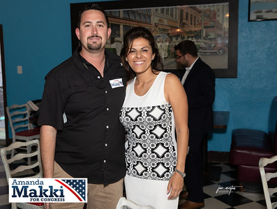 Vote for the Trusted Conservative - Amanda Makki on Primary Election Day: August 18, 2020.  Meet and Greet in support of Amanda Makki for Congress District 13. Hosted by Frank Edgar at Cafe Ten-O-One.  Photos by: Joe Mestas, www.joemestas.com  Amanda Makki's Priorities: - Jumpstart our economy post Covid-19 and prevent Democrats' tax increases and overregulation of our small businesses. - Reduce out of pocket expenses for Obamacare. -Push for term limits for members of Congress. - Stop the spread of socialism. - Ensure Veterans have access to care and services. - Fix our transportation and traffic systems.