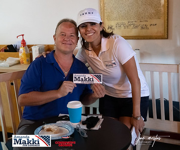 Amanda Makki Republican candidate  in the Florida Congressional District 13 Primary Race. Amanda has many endorsements to include House Minority Leader Kevin McCarthy and House Republican Whip Steve Scalise.  Conservative Grounds Coffee Shop hosted  a Meet & Greet of the Republican Candidates in   Largo on 6/13/2020 www.joemestas.com