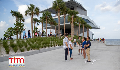 Amanda Makki and Team takes a stroll along the newly opened St Petersburg Pier