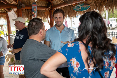 Amanda Makki and team gathered at Harbor Master Tiki Grille for a fundraiser on  7/29/2020  Lawyer, Advocate, Public Servant Amanda Makki Running to Represent Florida's 13th Congressional District. It's time to send Charlie Crist home.  Photos by: Joe Mestas www.joemestas.com