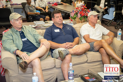 Veterans from Air force, Army, Marines, and Navy participated in a Round Table meeting  on July 23, 2020 with Amanda Makki, the GOP candidate for US Congress District 13, and Matt Tito  Marine veteran and businessman, candidate for State House District 68. at Makki's  campaign HQ in St Petersburg.   Several interesting topics were discussed including issues with health care received at Bay Pines VA Hospital, pharmacy and  mental health care issues.  Everyone agreed  that Amanda is best candidate  positioned to defeat the democrat incumbent.   Please give your support to Amanda Makki and Matt Tito   Photos by: Joe Mestas www.joemestas.com
