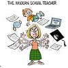 Bruce Plante Cartoon: The Modern School Teacher