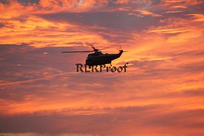 Marine One Sunset in Waco Texas