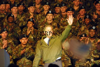 President George W Bush at Ft Hood