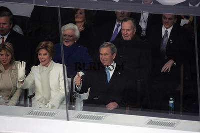 2005 Inaguration Parade Review stand with Both President George Bush and both First Lady's